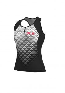 SOLID - HEXA Lady Top Black-white