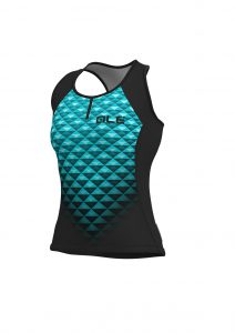 SOLID - HEXA Lady Top Black-turquoise